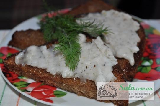 бутерброд с закусочным салом