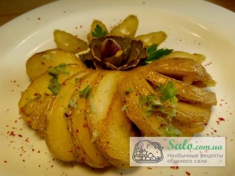 Картошка гармошка рецепт с фото с салом