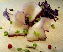 Пурпурное сало в капустном маринаде