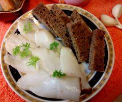 Сало по-японски в соевом соусе