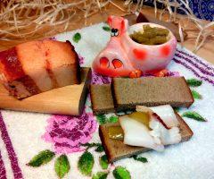 Сало, маринованное с луковой шелухой