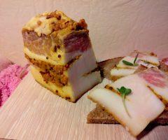 Маринованное сало с зернистой горчицей