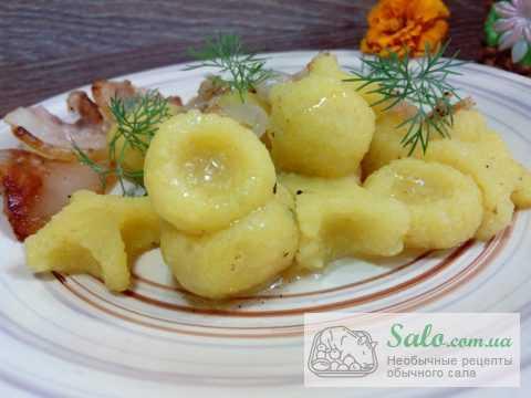 Картофельные клецки с подчеревком по-польски