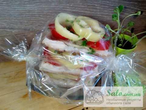 Ароматное сало с помидорами,приготовленное в духовке