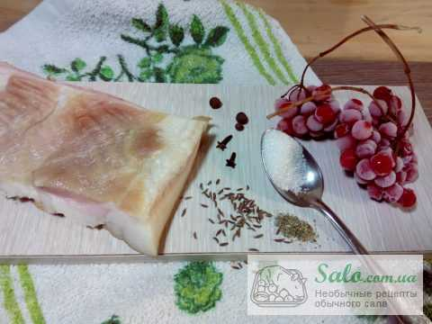 Рецепт вкусного сала с калиной